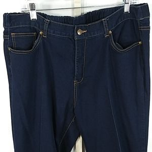 Women with Control blue jeans 18W NEW 3144